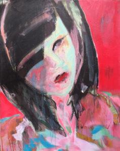 """Gemaltes Bild mit dem Titel """"Hanami"""" von Heike Stommel"""
