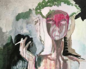 """Gemaltes Bild mit dem Titel """"Die Indianerin"""" von Heike Stommel"""