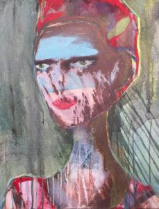 """Gemaltes Bild mit dem Titel """"Nemesis"""" von Heike Stommel"""