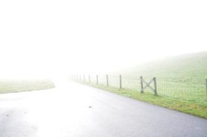 """Fotografie von Heike Stommel mit dem Titel """"Nebelweg"""""""