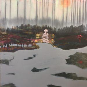 """Gemaltes Bild mit dem Titel """"Am Morgen"""" von Heike Stommel"""