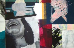 """Gemaltes Bild mit dem Titel """"Collage"""" von Heike Stommel"""