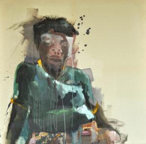 """Gemaltes Bild mit dem Titel """"Coloured"""" von Heike Stommel"""