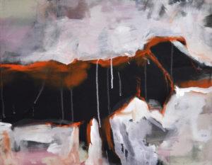 """Gemaltes Bild mit dem Titel """"doggy ohne bag"""" von Heike Stommel"""