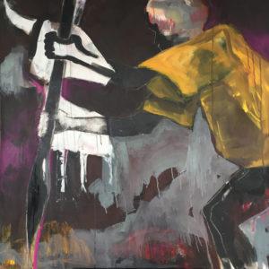 """Gemaltes Bild mit dem Titel """"Krieger"""" von Heike Stommel"""