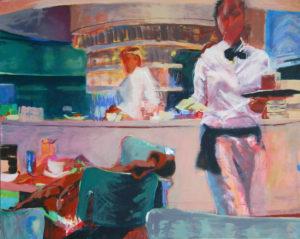 """Gemaltes Bild mit dem Titel """"Museumscafe I"""" von Heike Stommel"""