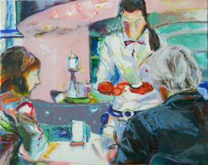"""Gemaltes Bild mit dem Titel """"Museumscafe II"""" von Heike Stommel"""