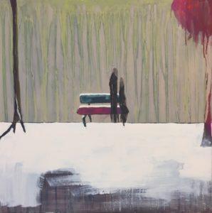 """Gemaltes Bild mit dem Titel """"Winter"""" von Heike Stommel"""