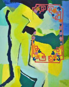 """Gemaltes Bild mit dem Arbeitstitel """"Der Unvollendete"""" von Heike Stommel"""