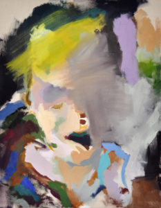 """Gemaltes Bild mit dem Arbeitstitel """"Sommersprosse"""" von Heike Stommel"""