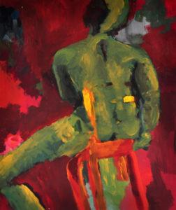 """Gemaltes Bild mit dem Arbeitstitel """"Symbiose"""" von Heike Stommel"""