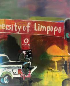"""Gemaltes Bild mit dem Arbeitstitel """"University of Limpopo"""" von Heike Stommel"""