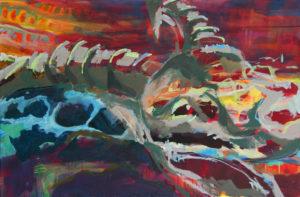 """Gemaltes Bild mit dem Titel """"Capra Ibex"""" von Heike Stommel"""