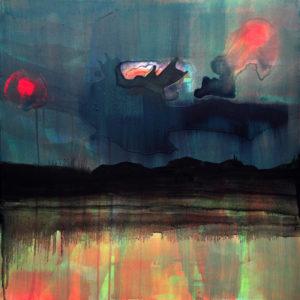 """Gemaltes Bild mit dem Titel """"Am Horizont"""" von Heike Stommel"""